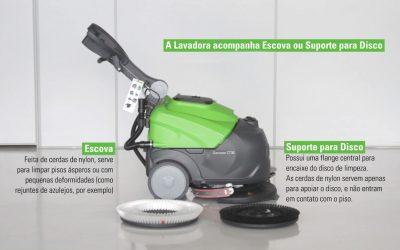 Lavadora de piso com escova ou com disco de limpeza, o que é melhor?